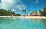 bora bora lagoon, french polynesia poster