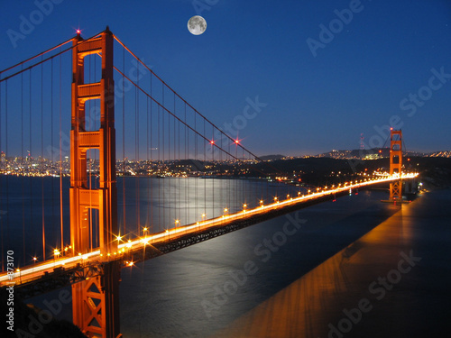 the golden gate bridge pictures. golden gate bridge with moon