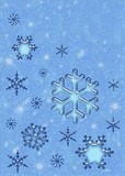 ice snowflakes poster