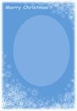 christmas blue frame poster