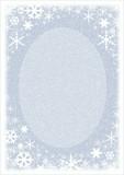 snow frame poster