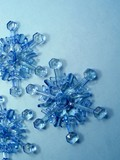 blue snowflakes poster