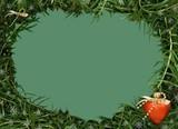 christmas frame. green pine poster