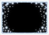 snow frame. black color poster