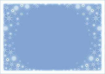 snow frame. blue color