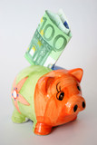 hundred euro and piggy poster