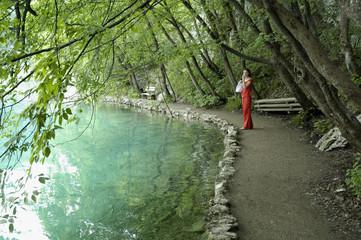 girl near the lake
