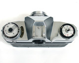 top view of old camera poster