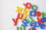 letter fridge magnets poster