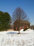 blue sky barn poster