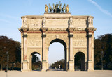 louvre - arch of triumph of carrousel poster