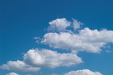 blue sky with white clouds at midday - image 22 poster
