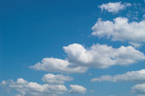 blue sky with white clouds at midday - image 23 poster