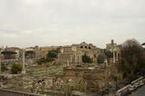 roman forum scenic view poster