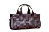 woven leather handbag poster