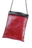 red shoulder bag poster