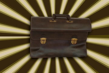 retro brief case