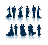 evening silhouettes poster
