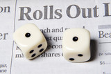rolling the dice with your financial future poster