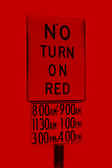 no turn when? (red tint)