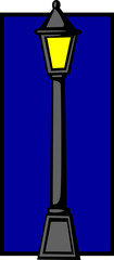 city light pole at night