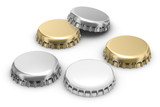 beer caps (w clipping path) poster