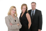 three person business team 4 poster