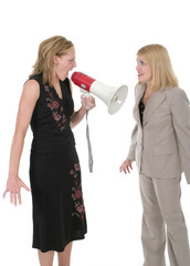 agitated two business women team 4