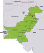 map pakistan landkarte pakistan