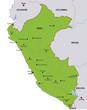 map peru landkarte peru