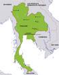 map thailand landkarte thailand