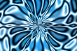 fractal flower bloom - blues - 891737