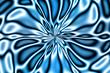 fractal flower bloom - blues - 891737