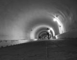 underground tunnel view poster