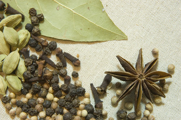 star anise and bay leaf