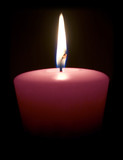 magenta candle poster