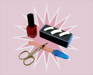 manicure tools and materials