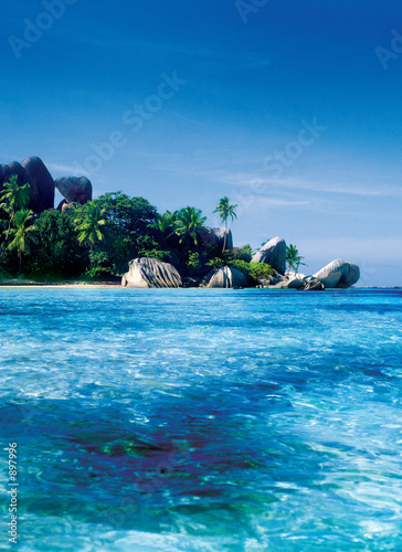 canvas print picture seychelles
