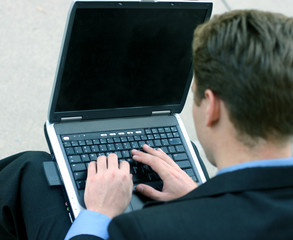 businessman with laptop 87