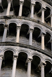 arches from the leaning tower of pisa poster