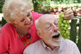 senior couple having fun poster
