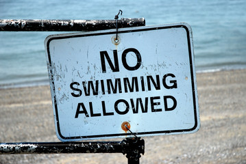 no swimming allowed