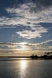 shell mound,cedar key,levy county,florida,sunset, poster