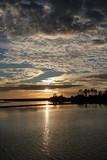 shell mound,cedar key,levy county,florida,sunset,o poster