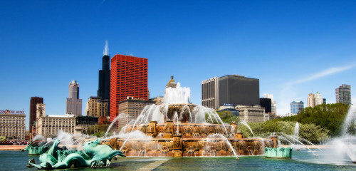 buckingham fountain, chicago ilinois