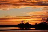 sunset,shell mound,cedar key,florida,travel,nature poster
