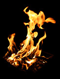 blazing campfire poster