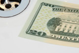 us banknote going down the drain poster
