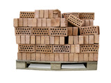 heap of bricks on palette - building supplies poster