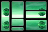 green marble banners poster